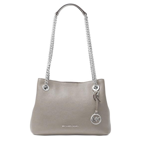 1f6b609105a9 💥NEW Michael Kors Jet Set chain grey leather bag